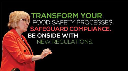 Transform your food safety processes. Safeguard compliance. Be onside with new regulations.
